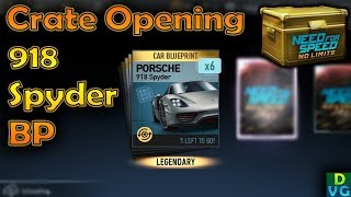 NFS No Limits | Premium Crate Opening for 918 Spyder Blueprints