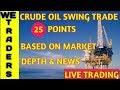 CRUDE OIL SWING TRADE | 25 POINTS | BASED ON MARKET DEPTH & NEWS LIVE VLOG - 14.09.2018