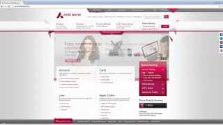 IN-How to login Axis bank