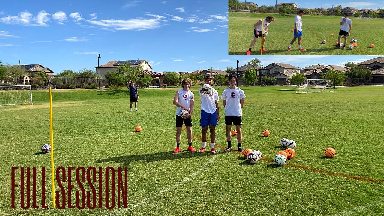 U18 Full session! Q&A Passing Receiving & Finishing 🎯⚽️