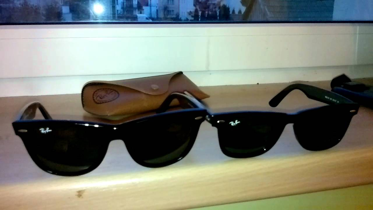 c0b83903cbe Ray-Ban Wayfarer 2140 size comparison (50 mm vs 54 mm) part 2 - YouTube