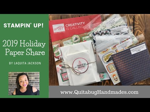 Repeat Stampin' Up! 2019 Holiday Catalog Paper Share by
