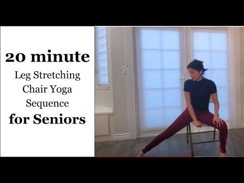 20 minute leg stretching chair yoga sequence  youtube