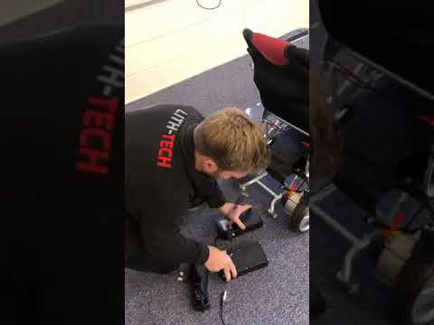 How to charge your lith-tech compact folding electric wheelchair