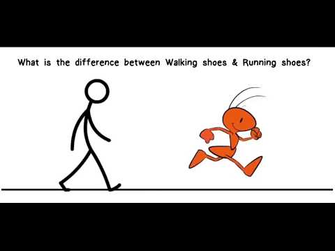 The Difference Between Walking shoes and Running Shoes