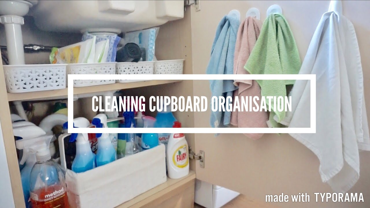 CLEANING, ORGANISATION U0026 STORAGE | MY CLEANING CUPBOARD | CARLY JADE DRAKE
