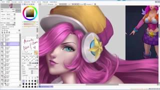 Digital painting - Arcade Miss Fortune