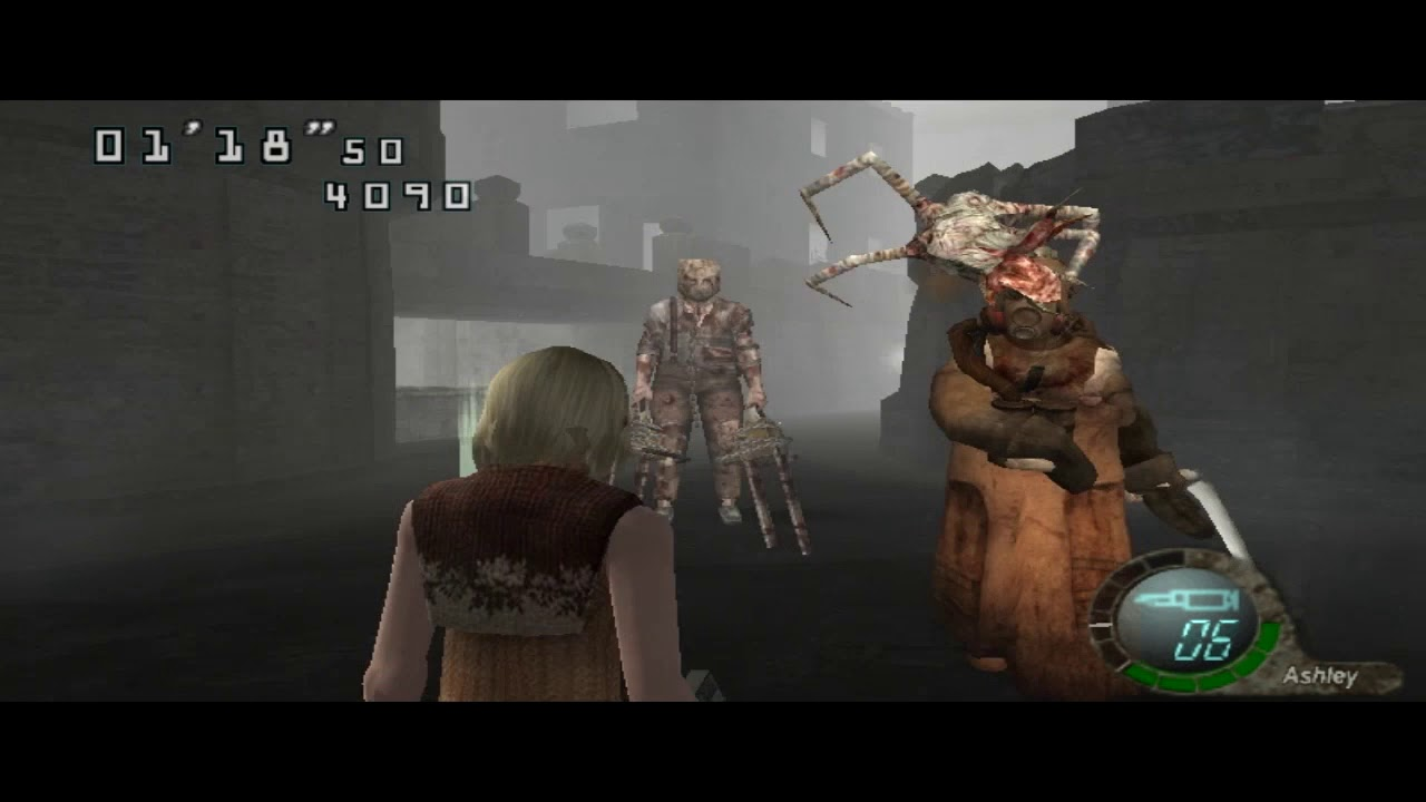Resident Evil 4 Chainsaw Guy Ashley taking on a guy...