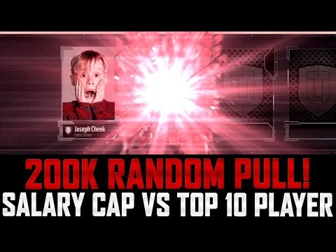 MUT 18 | 200K PULL OUT OF A GOLD PLAYER PACK! | SALARY CAP VS TOP 10 PLAYER!