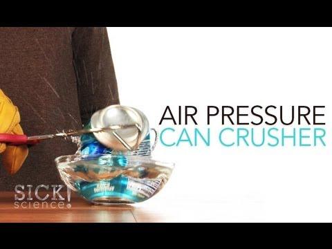 Air pressure can crusher sick science 098 youtube