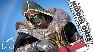 Assassin's Creed Valhalla HIDDEN ONES Armor Set Locations Final Appearance FULL Upgrades Showcase