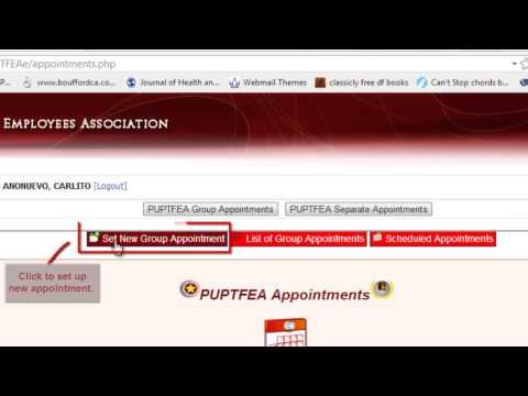 PUPT Faculty and Employee Association System's HOW TO