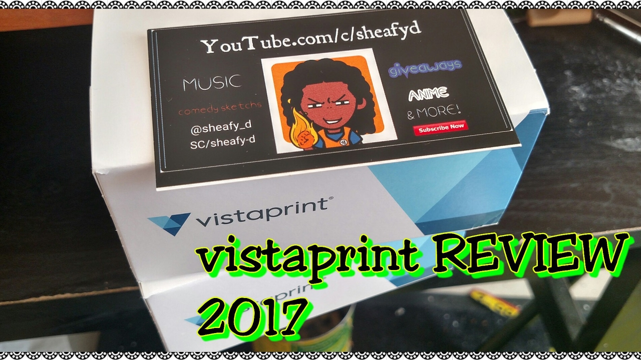 Vistaprint standard business cards REVIEW/unboxing - YouTube