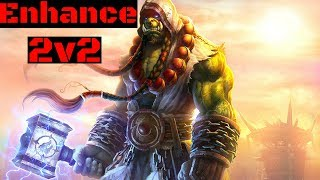 Enhance shaman pvp Arenas 2v2 Wow-legion 7.2.5