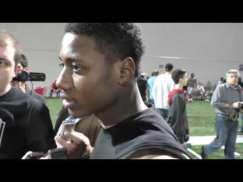 Curtis Samuel talks after Ohio State