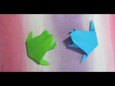 クリスマス 折り紙 折り紙 カエル 折り方 簡単 : youtube.com