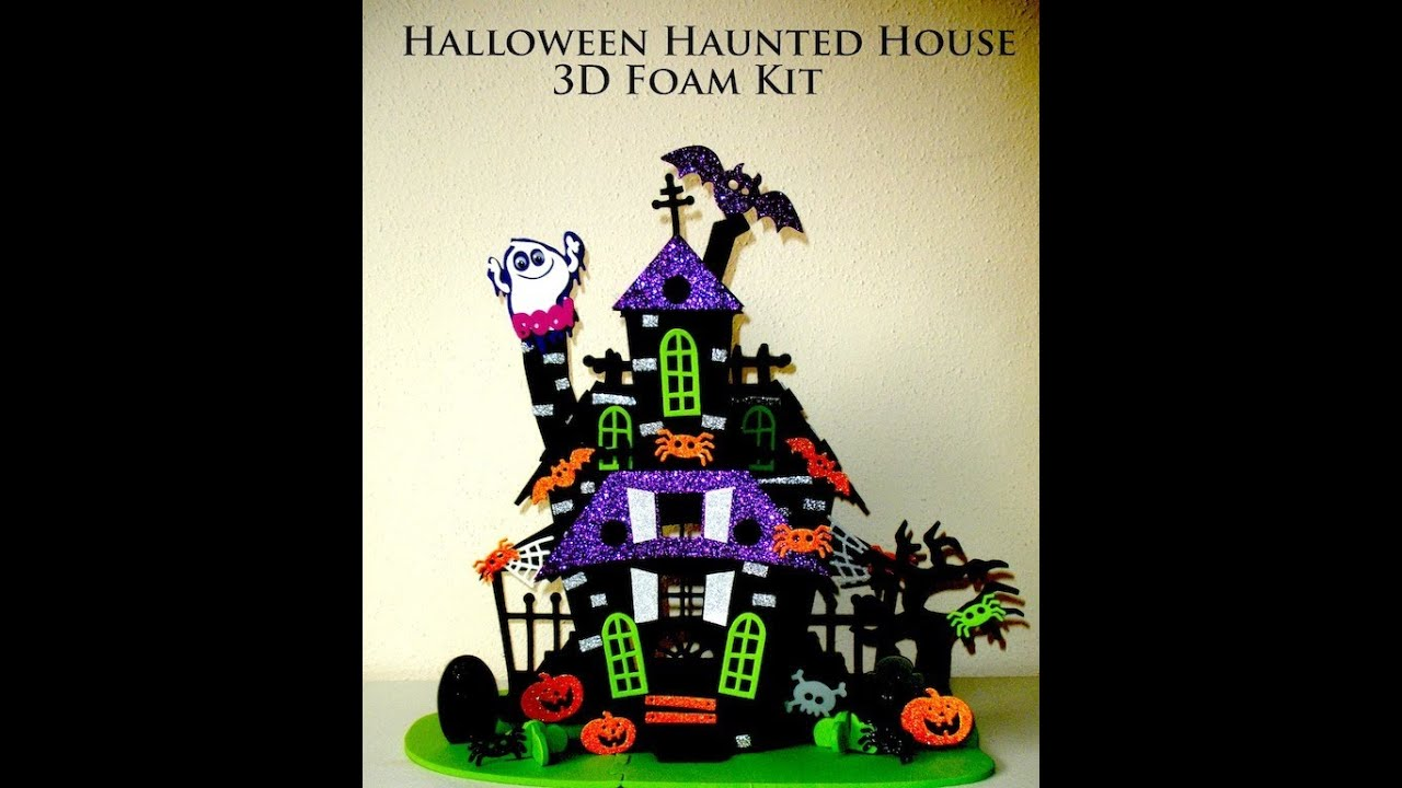 halloween haunted house foam kit