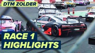Crazy start at Race # 1   DTM Zolder Race 1   Highlights