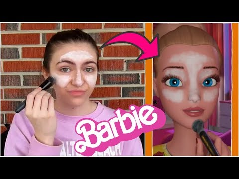 I Tried Following A Barbie Vlogs Makeup Tutorial