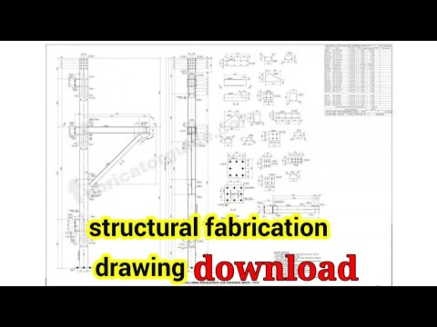 Structural Steel Fabrication Drawing PDF Download