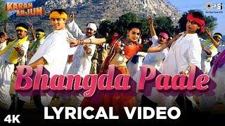 Bhangda Paale Lyrical Karan Arjun | Sadhana Sargam, Mohammed Aziz, Sudesh Bhosle | Salman,ShahRukh