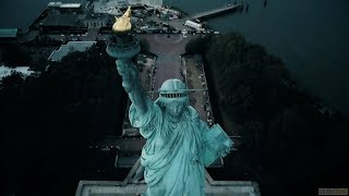 Above New York - Statue of Liberty and Liberty Island