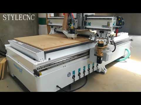 2018 Automatic tool changer CNC wood router machine for wood working video