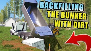 CUSTOMER'S PROJECT IS ALMOST DONE! BACKFILLING THE REST OF THE DIRT | FARMING SIMULATOR 2017