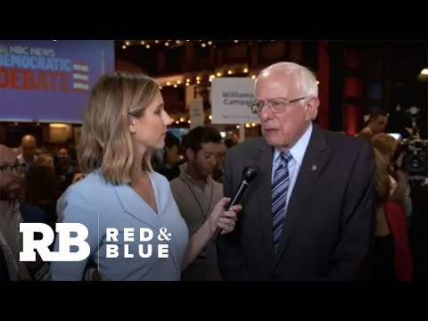 "Bernie Sanders: ""Delighted"" other candidates taking up his ideas"