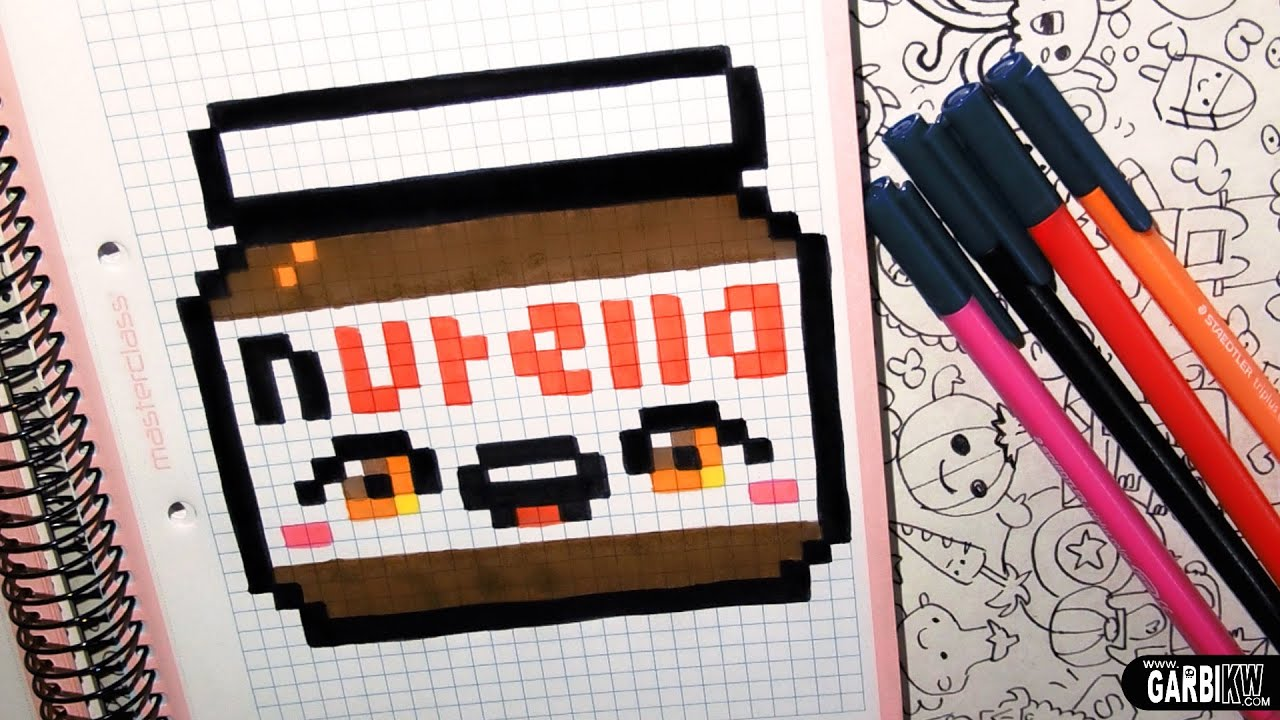 Handmade Pixel Art How To Draw A Kawaii Nutella By Garbi Kw