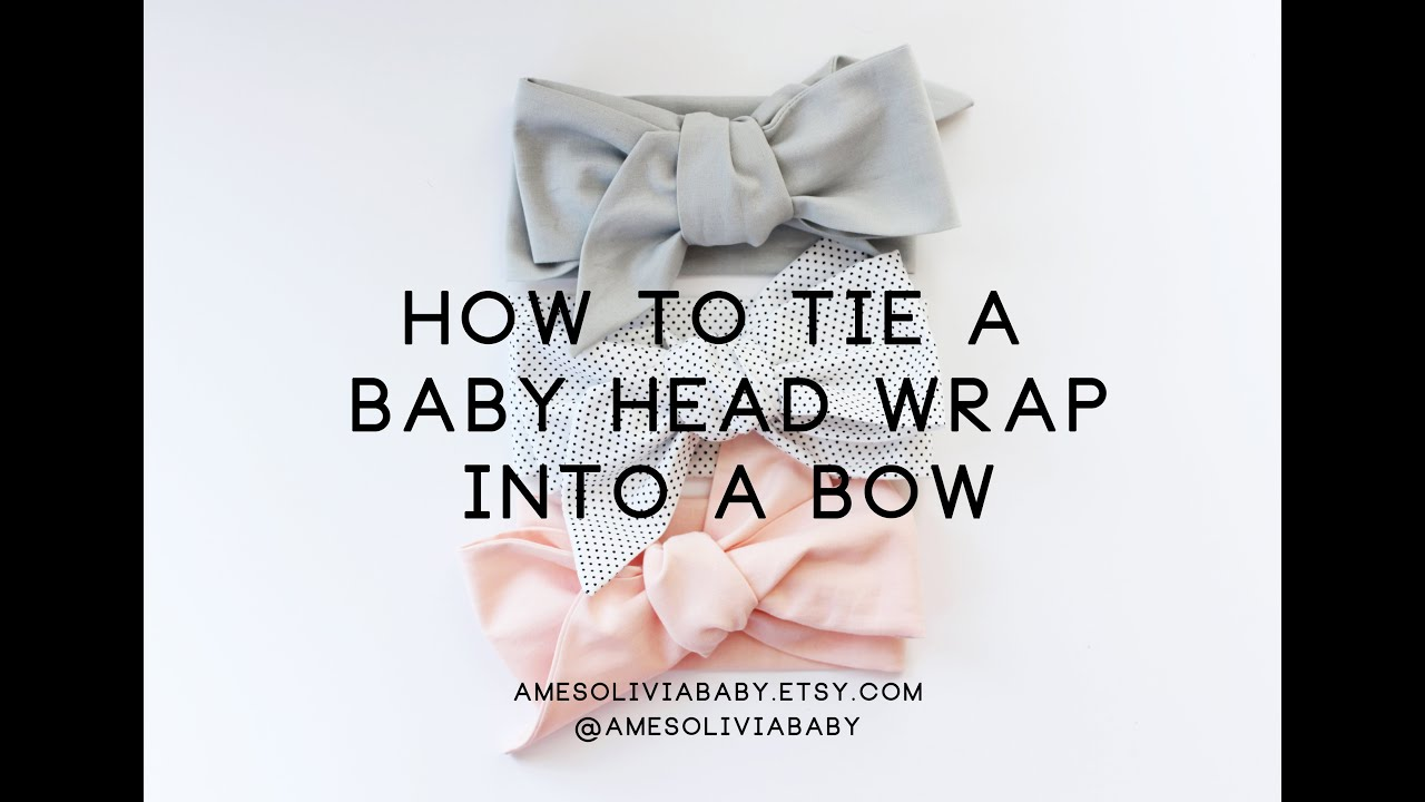 How to tie a baby head wrap. Baby head wrap tutorial. - YouTube 0049a6e2c67