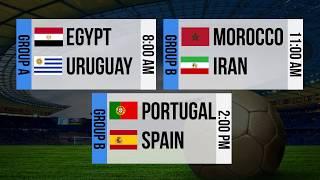 FIFA 2018 World Cup Fixtures – June 15, 2018