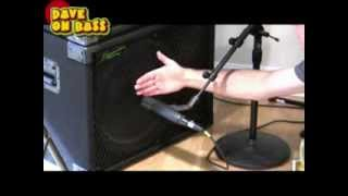 How To Mic A Bass Speaker Cabinet