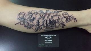 Hình Xăm Hoa Mẫu Đơn tại Đỗ Nhân Tatttoo