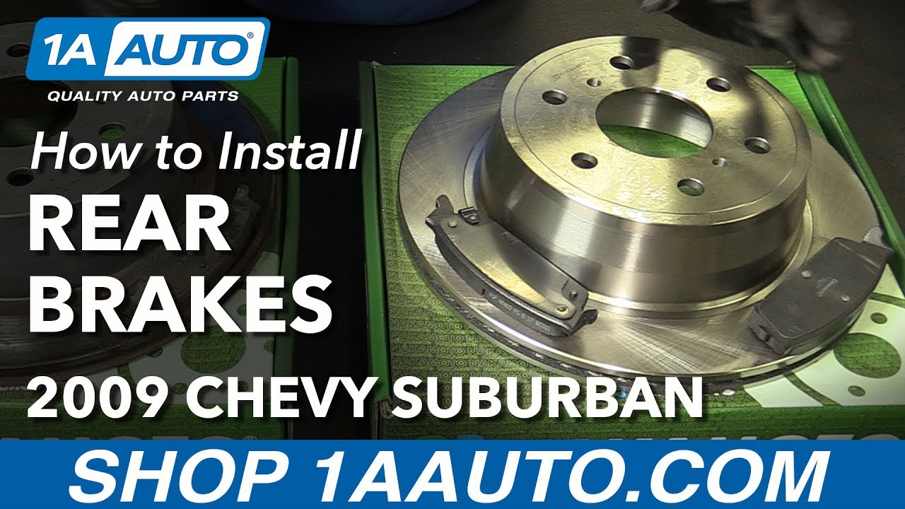 How to Install Replace Rear Brakes Pads Rotors 2007-10 ...