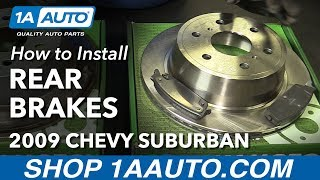 How to Install Replace Rear Brakes Pads Rotors 2007-10 Chevy Suburban 1500