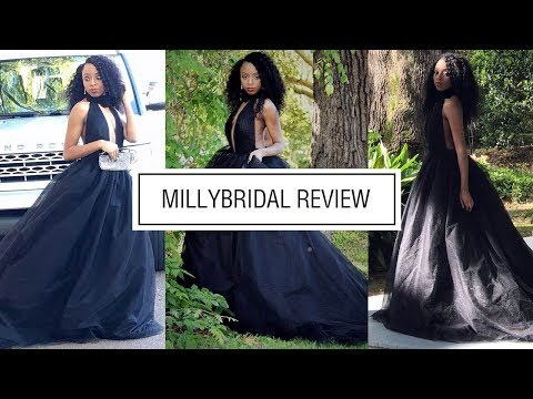 prom-dresses-|-modest-long-ball-gown-high-neck-tulle-black-backless-dress---millybridal-review