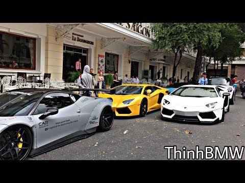 Quận 1 như nổ tung Khi những Siêu Phẩm Độ tụ hợp    Lamborghini   Ferrari