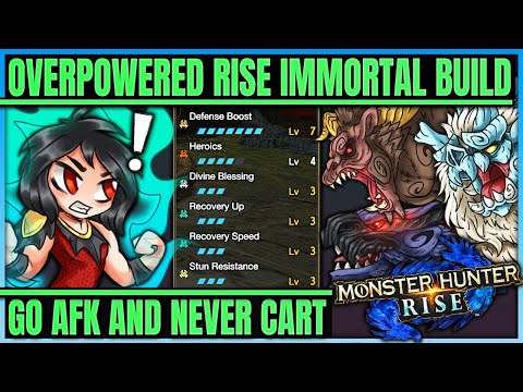 Rise Broken Immortal Build - Impossible to Cart - BEST BUILD IN GAME - Monster Hunter Rise! |