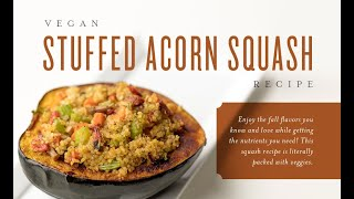 Vegan Stuffed Acorn Squash Recipe | Young Living Essential Oils