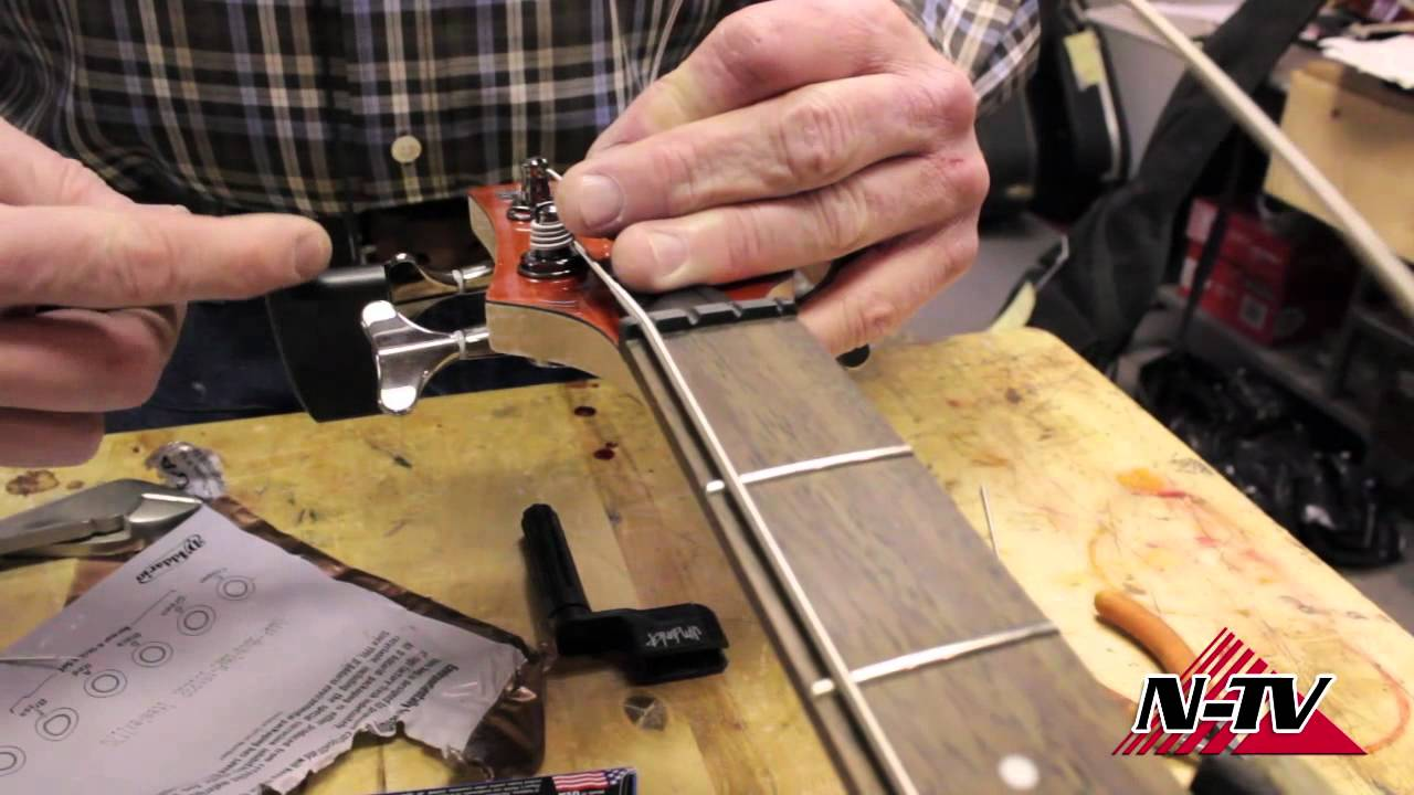 diy how to change your bass guitar strings youtube. Black Bedroom Furniture Sets. Home Design Ideas