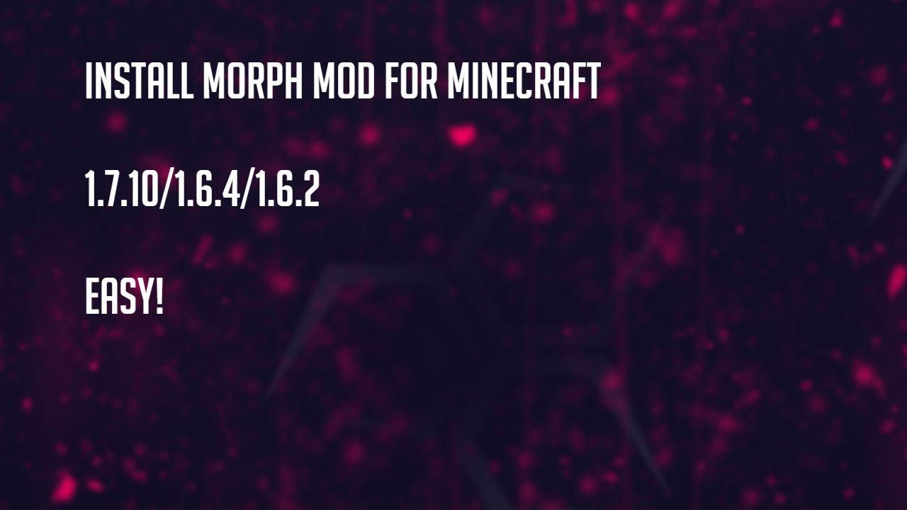Morph mod | minecraft pe mods & addons.