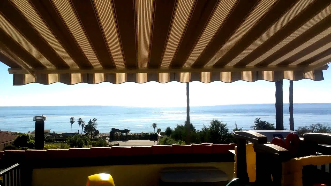 SunSetter awning in motion in Malibu - YouTube