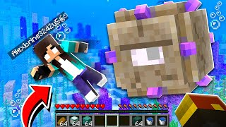 noob Girl RAIDS Underwater Minecraft Temple! (scary)