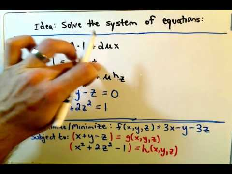 Lagrange Multipliers - Two Constraints