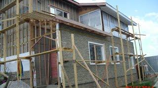 видео строительство каркасно щитовых домов