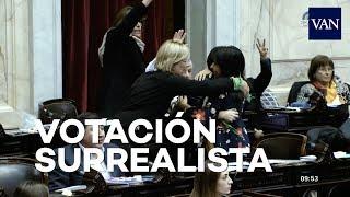 Momento surrealista en la votación de la despenalización del aborto en Argentina