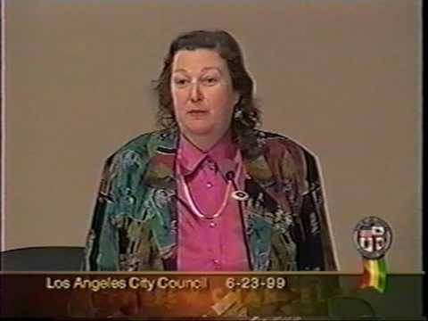 Los Angeles City Councilwoman Jackie Goldberg---El Mercado----Boyle Heights, East Los Angeles