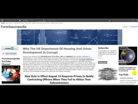 The Corruption of the US Department of Housing and Urban Development
