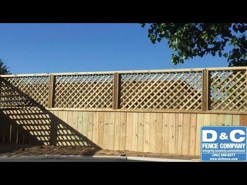 Lattice Fencing | D&C Fence Company | Corpus Christi TX | (361) 289-8277